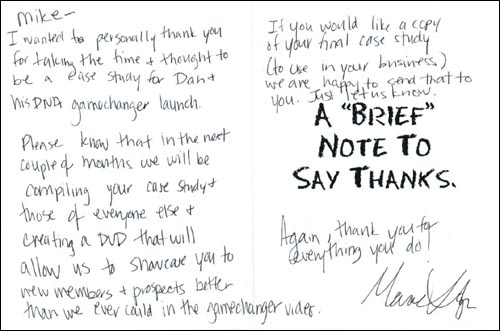 The Power Of Personalized  Handwritten Business Thank You Notes