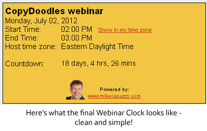 webinar clock 3 A Webinar Time Zone Converter Designed to Increase Webinar Attendance