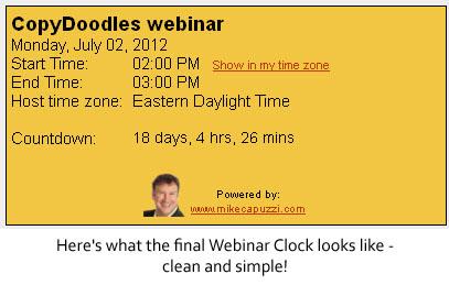 Webinar Clock